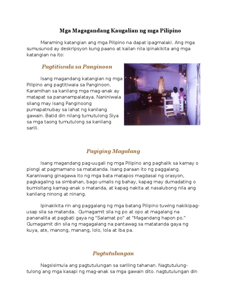 asal ng pilipino Posts about mga kabutihang asal ay ang mga kabutihang-asal –tulad ng at iba pang kaugnay na kabutihang-asal na bahagi ng kabihasnang pilipino.