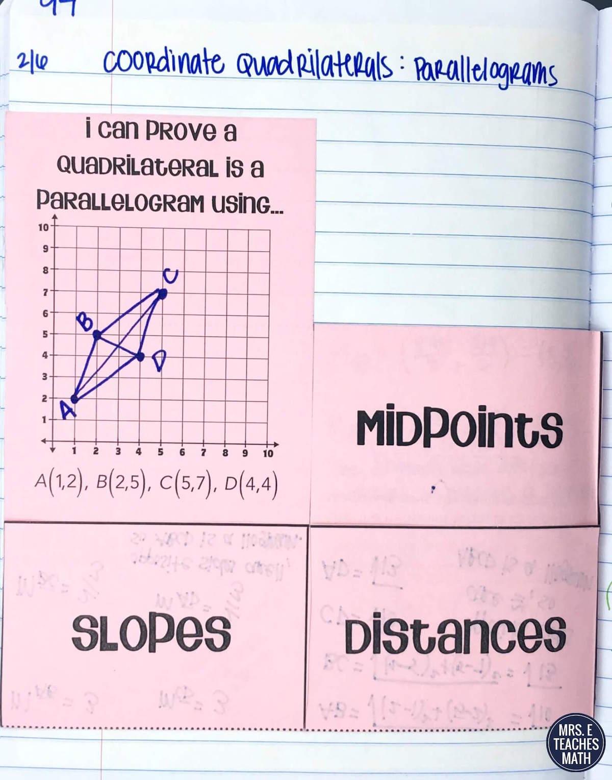 Coordinate Quadrilaterals Inb Pages