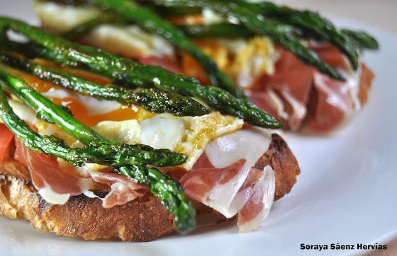 recette tartine salee asperges oeuf jambon