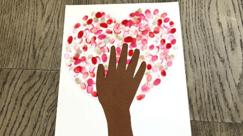 heart tree art project for kids