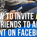 How to Invite Everyone to A Facebook event Updated 2019