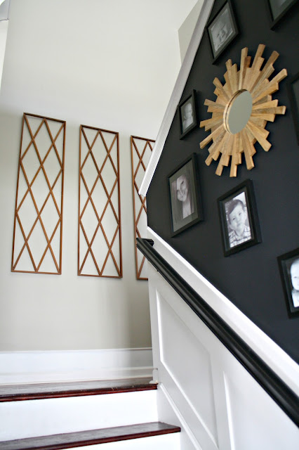 decorating tall staircase