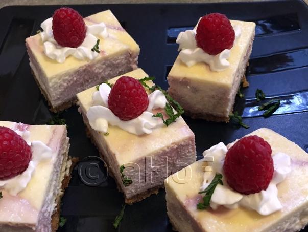 Rhubarb Raspberry Cheesecake Bars