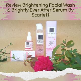 brightly serum facial wash scarlett