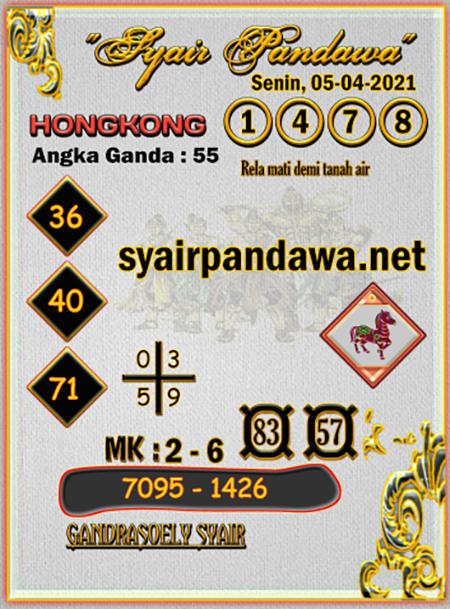 Prediksi Pandawa HK Senin 05-Apr-2021
