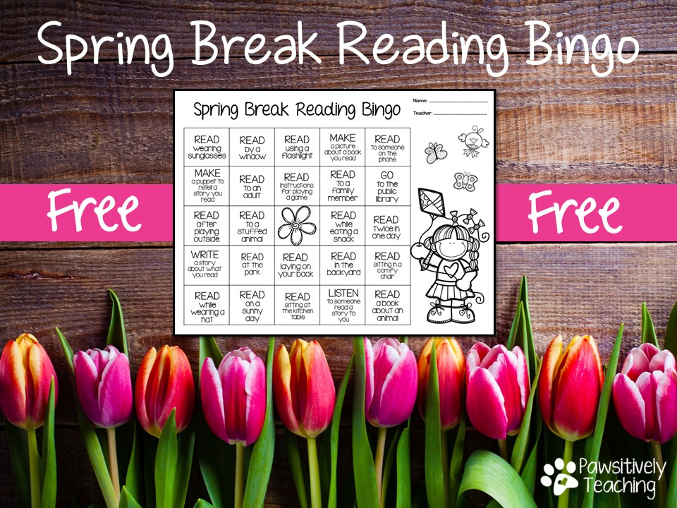 Free Resource to Keep Your Kids Reading on Spring Break
