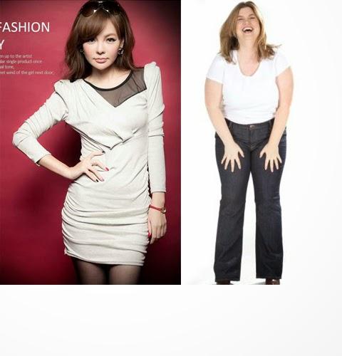 foto model kaos wanita gemuk