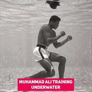mohammed ali trainning under water - FutaNewsandGist
