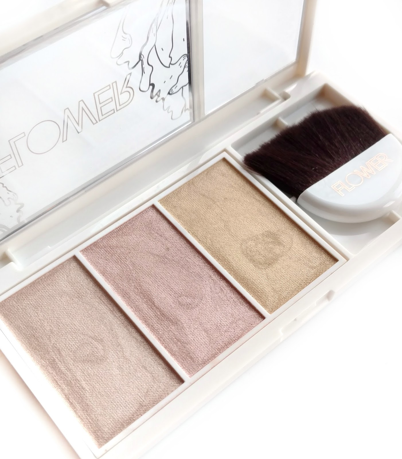 flower beauty highlighting palette