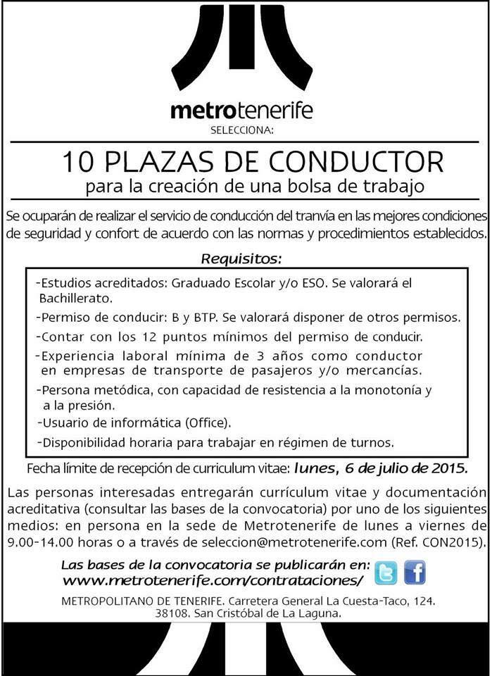 Oferta De Empleo Conductores Y Agentes De Fiscalización Y Ventas