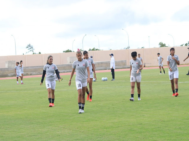 Dicky Markam Sebut Tim Sepak Bola Putri Bangka Belitung Tak Target Emas di PON.lelemuku.com.jpg