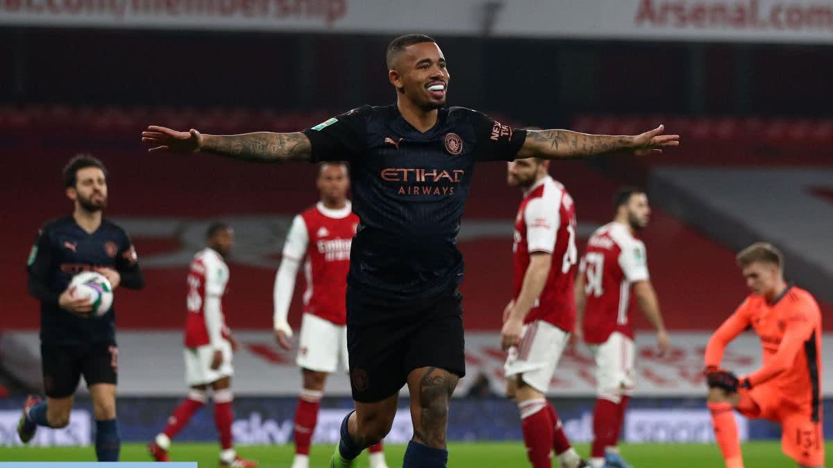 """Manchester City, con el """"Kun"""" Agüero, golea a Arsenal y avanza a las semifinales"""