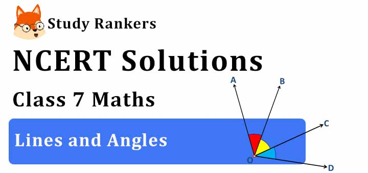 NCERT Solutions for Class 7 Maths Chapter 5 Lines and Angles