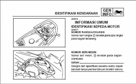 posisi nomor mesin grand new avanza all kijang innova tipe q letak rangka dan motor honda cs1 mega pro jenis lokasi