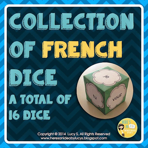 French Dice - verbs, personal pronouns, and more!
