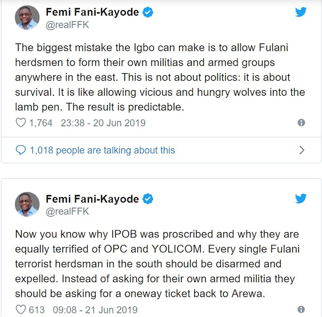 Allowing Fulani Herdsmen Form Own Militias In S'East Would Be Igbo's Biggest Mistake – FFK Warns