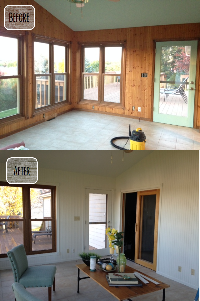House Wood Paneling: First House Love: DIY: Painting Wood Paneling