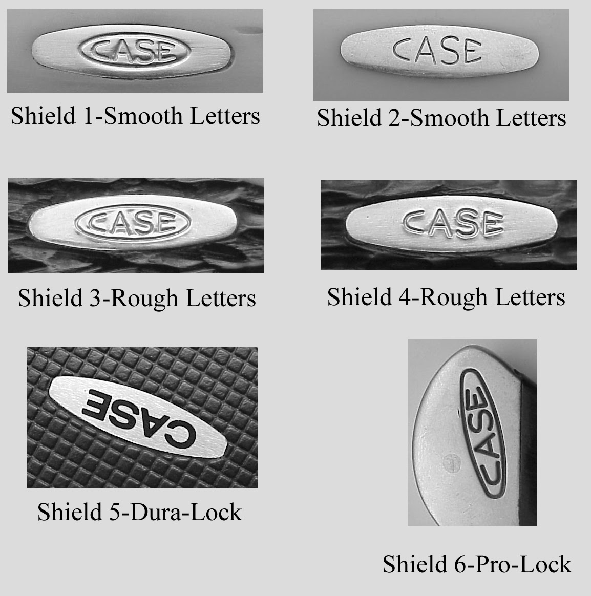 Case knife dating chart