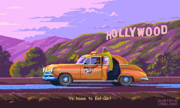 Gustavo Viselner ilustrações pixel art filmes tv referências Um Maluco no Pedaço