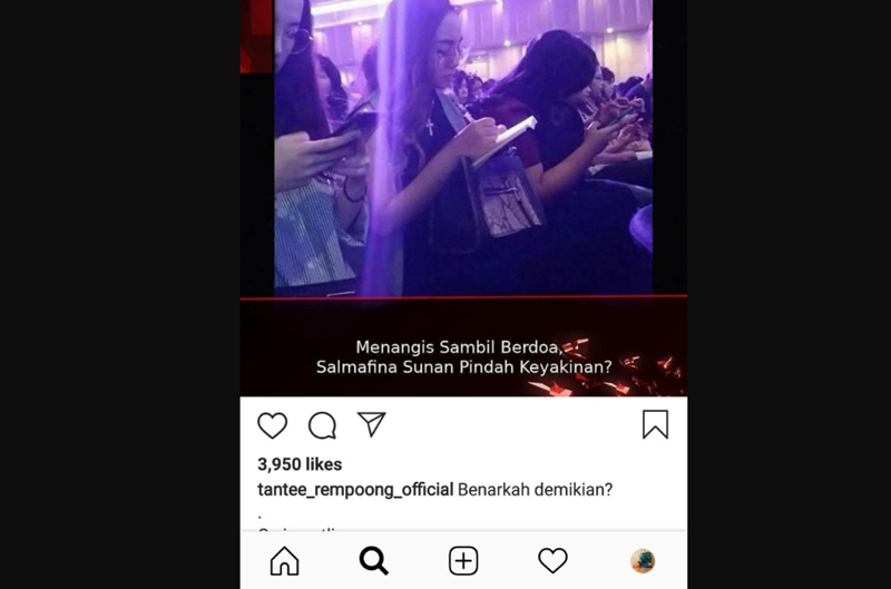 Isu Salmafina Sunan Pindah Keyakinan - IGTANTEE_REMPOONG_OFFICIAL