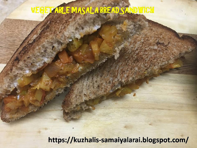 VEGETABLE MASALA BREAD SANDWICH