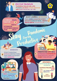 Poster Stay productive during pandemic