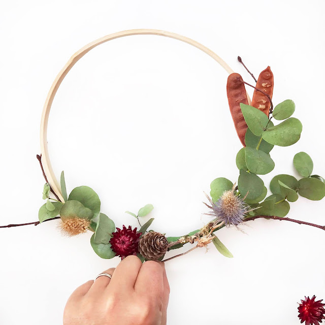 DIY Flower Craft - Christmas Wreath