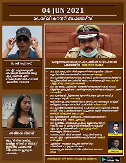 Daily Malayalam Current Affairs 04 Jun 2021