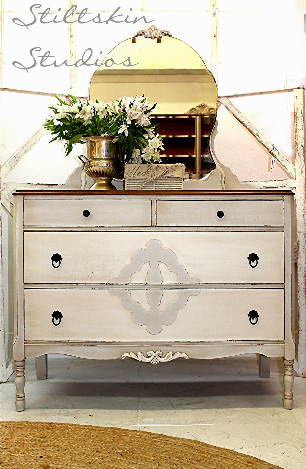 Stiltskin Studios Grey Linen Cottage Dresser