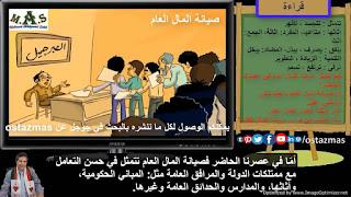 غلاف شرح درس صيانة المال العام - قراءة الصف الأول الإعدادي الفصل الدراسي الأول
