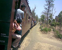 Bilimora to Waghai Narrow gauge train is very useful for the rural tribal peoples of the interior forest.
