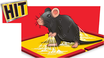 HIT Rat/Mouse Glue Pad to Catch Rats with No Smell and No Poison