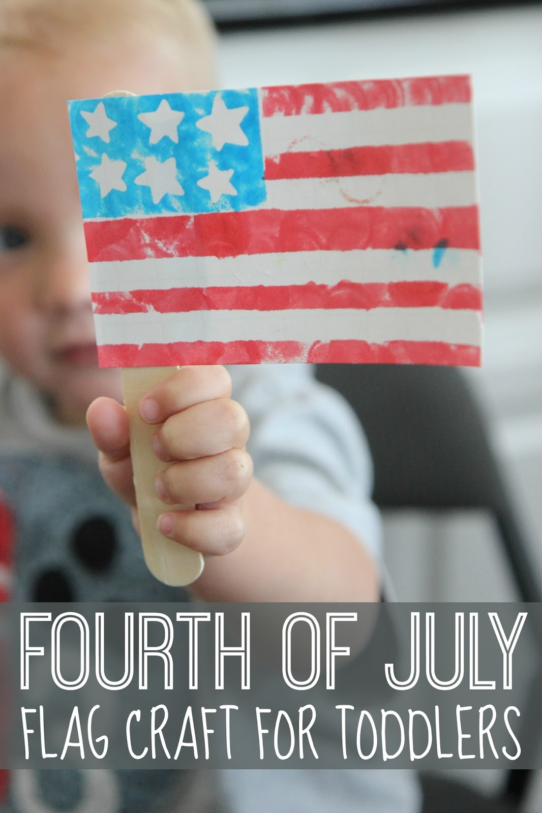 61972ef48851 Toddler Approved!  Fourth of July Flag Craft for Toddlers