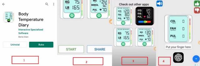 cara download dan menggunakan aplikasi body temperature diary