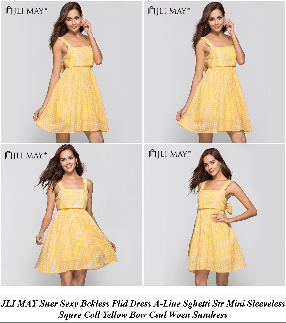 Trendy Summer Dresses Uk - Cloth Clearance Sale - Long Sleeve Off The Shoulder Dress Casual