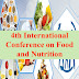4th International Conference on Food and Nutrition