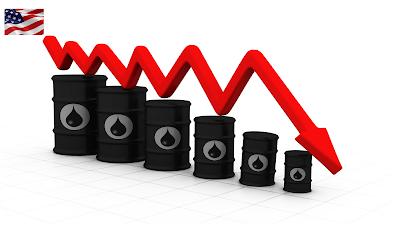 انخفاضا حادا للنفط الأمريكى حيث وصل سعر البرميل إلى 1,04 دولار
