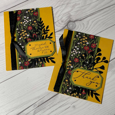 Floral Cards using Flower & Field Designer Series Paper from Stampin' Up!