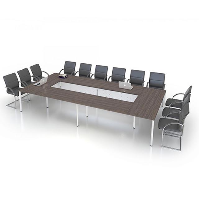 Bàn họp mặt gỗ chân sắt EAMT4821 phù hợp với văn phòng hiện đại