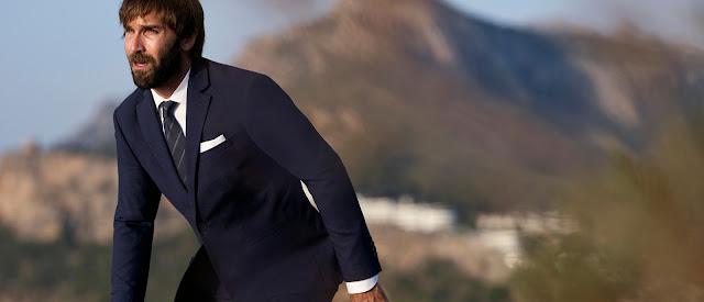Mango, Mango Man, traje, traje hombre, traje barato, Chris Sharma, sport, ropa deportiva, escalada, deportes de riesgo, traje mango azul, traje hombre, traje hombre mango,