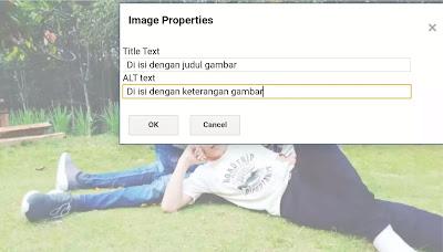 Alt text harus di isi dengan penjelasan atau keterangan gambar