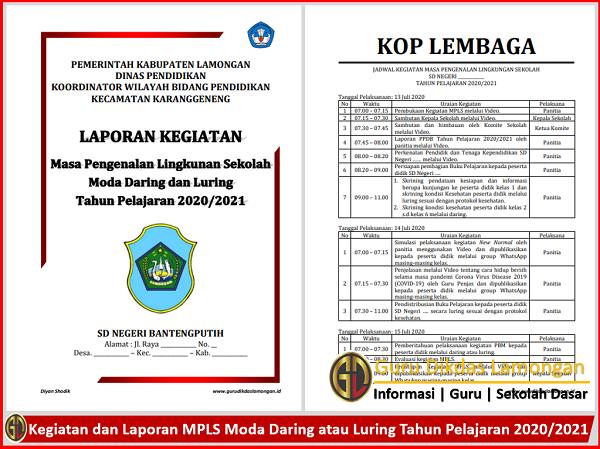 Kegiatan dan Laporan MPLS Moda Daring atau Luring Tahun Pelajaran 2020/2021
