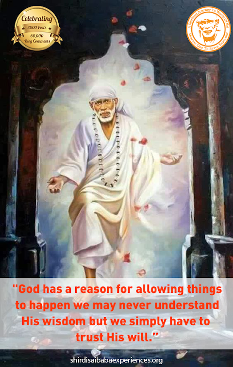 Trust His Will - Sai Baba On The Entrance Painting Image