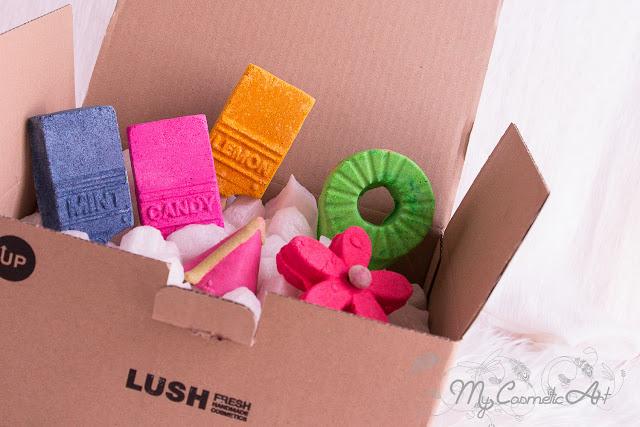 Julio en Lush Labs: Colección Bath Art.