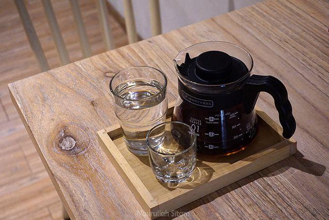 Sajian kopi di Tavor Cafe Sunter