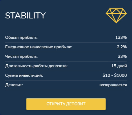Инвестиционные планы B2B Diamond