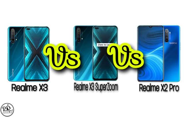 مقارنة Realme X3 ضد Realme X2 Pro ضد Realme X3 SuperZoom | هواتف ريلمي الرائدة