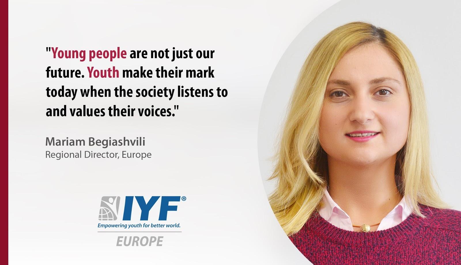 Mariam Begiashvili, IYF Regional Director, Europe