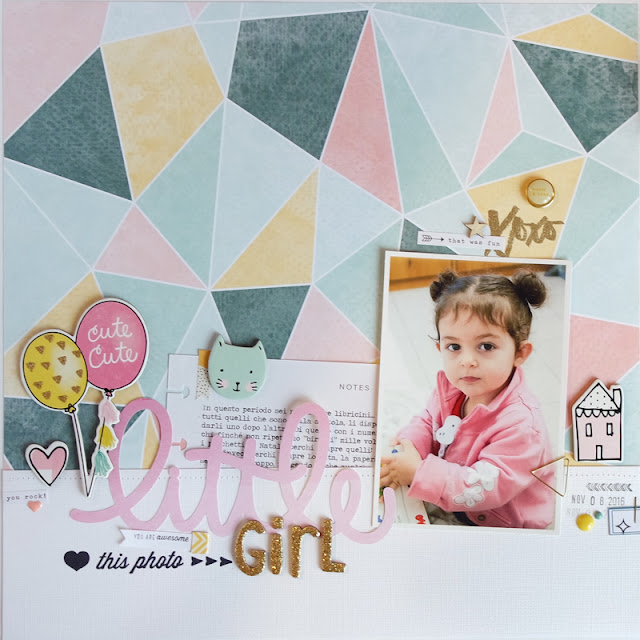 "scrapbook layout ""little girl"" by kushi 