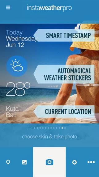 InstaWeather Pro,l'app si aggiorna alla vers 3.15.7